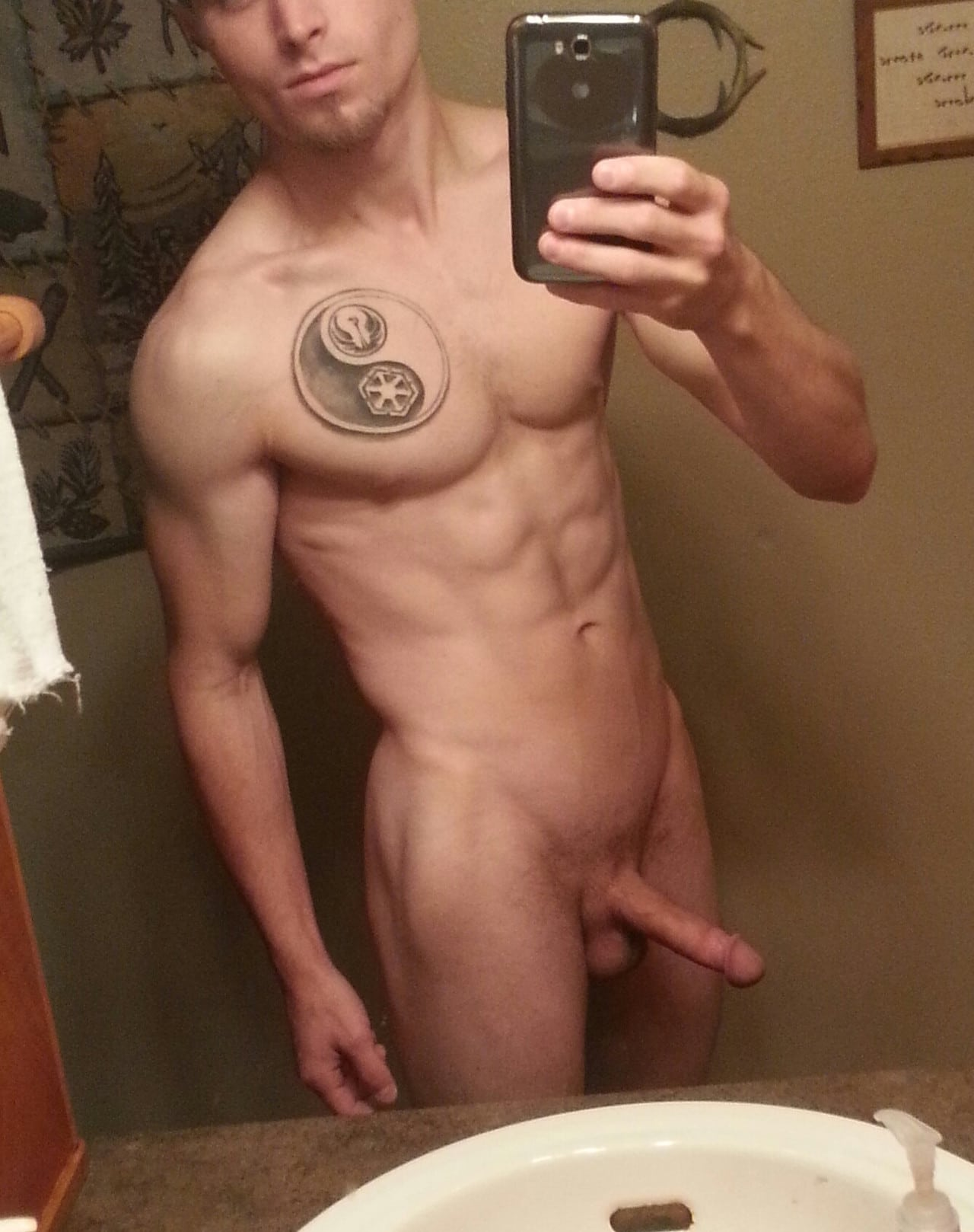 Muscle Boy With Hard Cock