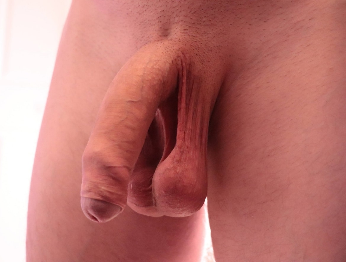 Shaved soft uncut cock